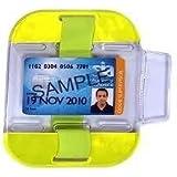 Yoko brand Security Id card badge holder- SIA Armband in Yellow hi viz