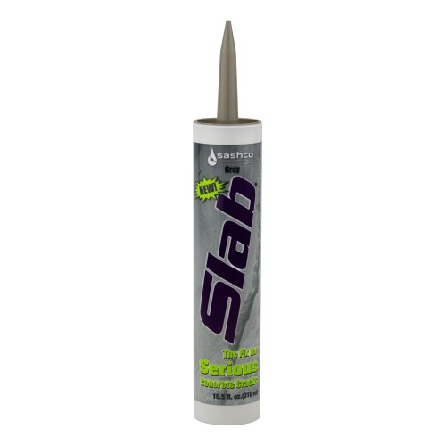 Sashco Slab Concrete Crack Repair Sealant, 10.5 oz Cartridge, Gray (Pack of 1)