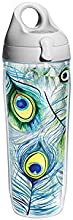 Tervis Tumbler Peacock Feathers Wrap Water Bottle with Lid