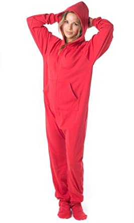 Adult cotton footed pajamas