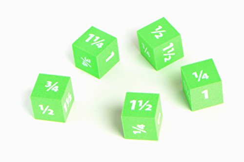 Didax Foam Easyshapes Fraction Dice 5 Piece Set - 1