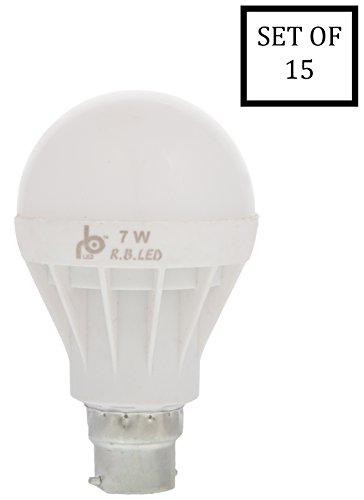RB 7W White LED Bulbs (Pack of 15)