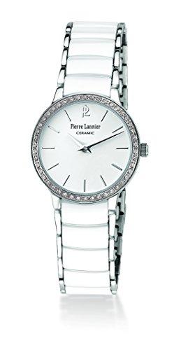 Pierre Lannier - 044M929 - Montre Femme - Quartz Analogique - Cadran Blanc - Bracelet Céramique Blanc