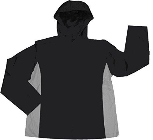 Men's i5 lightweight Hooded Windbreaker Jacket,Large,Black/Grey