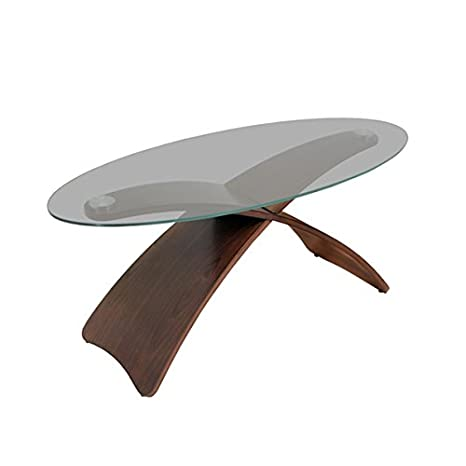 Criss Cross Bent Wood Accent Indoor Coffee Table