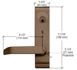 Dark Bronze Base Cover Plate Package for Jackson 1295 Rim Panic Exit
