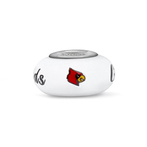 Louisville Cardinals Fenton Glass Bead Fits Most European Style Charm Bracelets