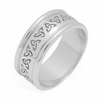14K Gold 7Mm Celtic Trinity Knot Wedding Band C4011 - Size 5.25