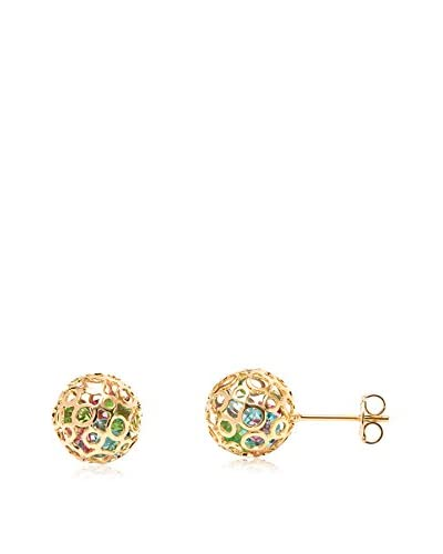 Sevil Multi-Color Swarovski Elements 10Mm Cage Stud Earrings