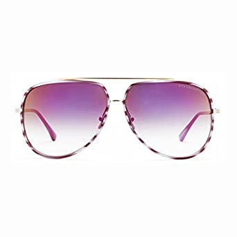 Dita Condor Two Purple Swirl 18k Gold Grey to Clear Lenses