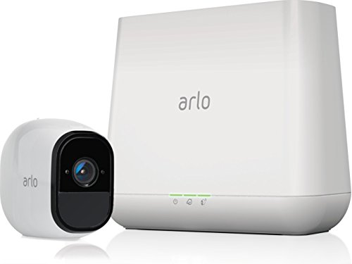 Arlo-Pro-Security-System-with-Siren-1-Rechargeable-Wire-Free-HD-Camera-with-Audio-IndoorOutdoor-Night-Vision-VMS4130