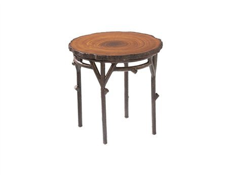 Image of Whitecraft Chatham Run Wood Round 22 Patio End Table (S525201)