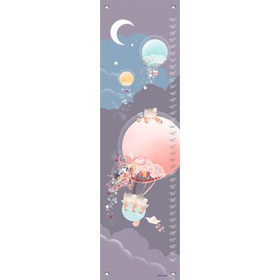 "Oopsy Daisy Growth Chart, Kites and Kittens Balloon Ride, 12"" x 42"""