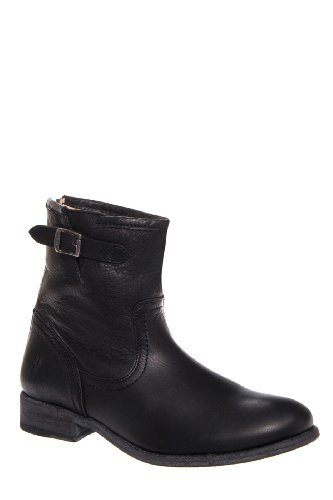Frye Pippa Back Zip Short Low Heel Saddle Bootie