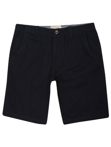 Mens Cotton Twill Smart Chino Summer Shorts Navy 40in