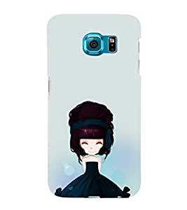 iFasho Cute Girl with Ribbon in Hair Back Case Cover for Samsung Galaxy S6 Edge