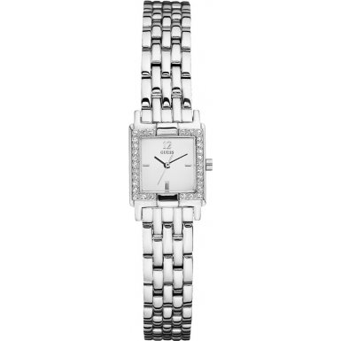 Guess Ladies Quartz Watch with Silver Dial Analogue Display and Silver Stainless Steel Strap W90062L1