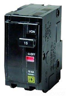 Square D Circuit Breaker, 15 Amp, 2-Pole, Qo215