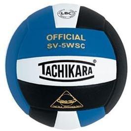 Tachikara Composite Volleyball - Sensi-Tec SV-5WSC, Colored Color: Royal/white/black