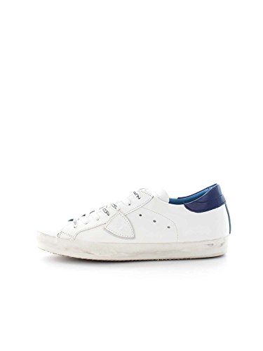 PHILIPPE MODEL PARIS CLLU VE07 WHITE BLUE SNEAKERS Uomo WHITE BLUE 41