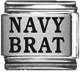 Navy Brat Laser Italian Charm