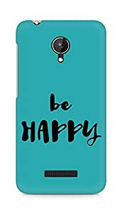 AMEZ be happy Back Cover For Micromax Canvas Spark Q380