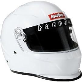 RaceQuip 284113 SA-2010 Medium White Full-Face Helmet