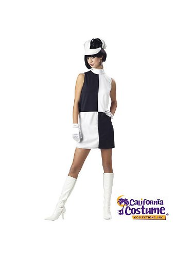 Adult Go Go Geo Girl Costume (Gloves, Wig, Boots and Stockings offered separately)