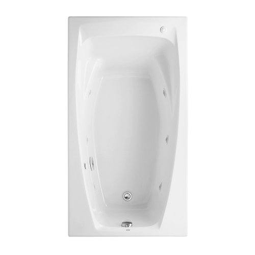 American Standard 2675.018.020 Colony 5-Feet by 32-Inch Whirlpool with Hydro Massage System-I, White