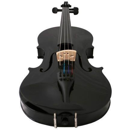 4/4 Full Size Black Maple Violin - WITH ACCESSORIES - Bow + Case + Rosin