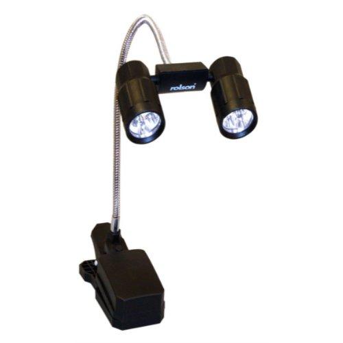 Rolson 61721   Mini lampada a morsetto con 6 lampadine a LED, regolabile -> Lampadari Con Lampadine A Led