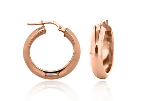 9ct Rose Gold 19mm Polished Creole Earrings