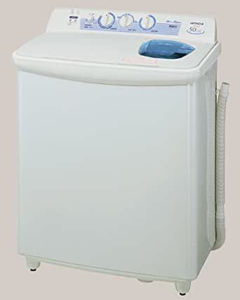 HITACHI 青空 2槽式洗濯機 ベージュホワイト PS-50AS W