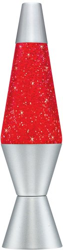 Lava Lite 2132 14.5-inch/20 oz. Stardust Glitter Lamp, Red