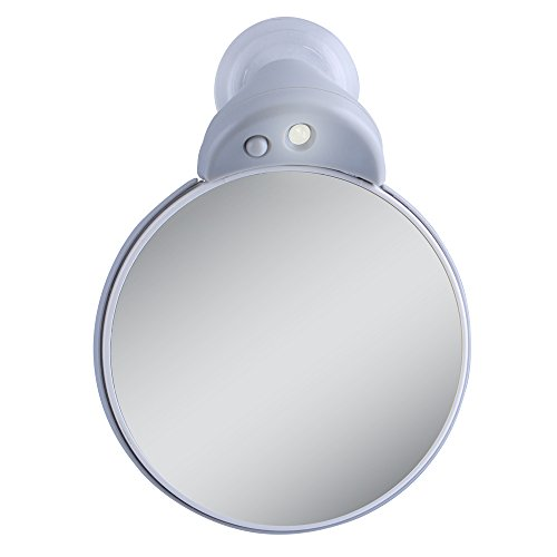 Zadro 5X/10X Led Lighted Spot Mirror With Suction Cup Attachment front-1036271