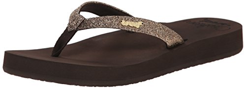 Reef Women's Reef Star Cushion Flip Flop, Bronze, 8 M US