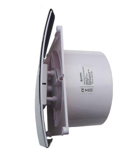 Extractor De Humedad Baño: Lujo Baño Cocina Extractor – Temporizador, Sensor de Humedad – satén