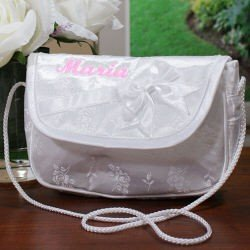 Embroidered Flower Girl Purse