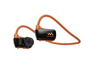 Sony Walkman NWZW273S 4 GB Waterproof Sports MP3 Player (Orange) with Swimming Earbuds
