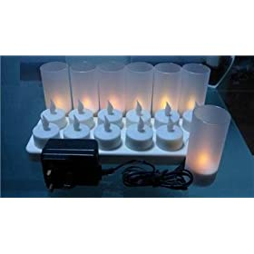 Rechargeable Tealight Candles (No batteries necessary!)