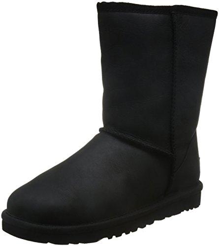 ugg-ugg-w-classic-short-leather-damen-halbschaft-schlupfstiefel-schwarz-black-39-eu-65-damen-uk