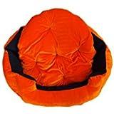 Gorgeous Ultra Soft Luxurious Reversable (Orange-Black) Dog/Cat Velvet Bed -XXL