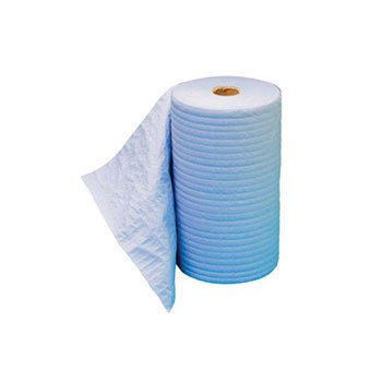 Hospital Specialty Co. TOUGHWORKS Four-Ply Nylon Scrim Wipers, Roll, Nonperforated, White, 9 3/4 x 275' - six rolls of wipers. hospital specialty company sontara creped blue wiper 12 x 12 inch 100 wipers per polybag 10 polybags per case