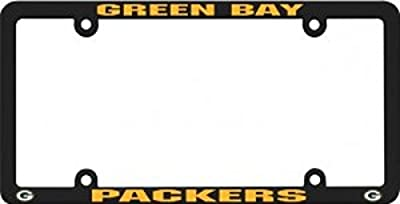 Green Bay Packers Official NFL 12 inch x 6 inch Plastic License Plate Frame by Rico Industries