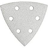 Bosch SDTW122 Detail Triangle, Hook & Loop Sanding Sheet, White, 120 Grit, 25 Pack