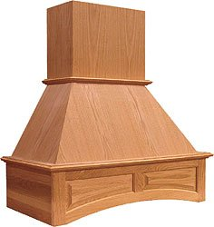 Omega National Signature Series 36 Inch W Arched Cherry Wall Chimney Range Hood, 260-650 Cfm