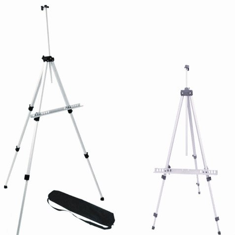 Amzdeal Adjustable 5ft Lightweight Aluminum Art Easel Portable Display Tripod + Carrying Bag (Display Floor Easel compare prices)