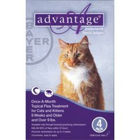 Advantage Purple Cat Medium/Large 4pk 9-18pds