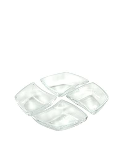 Set Para Aperitivo 4 Uds. Cristal Blanco