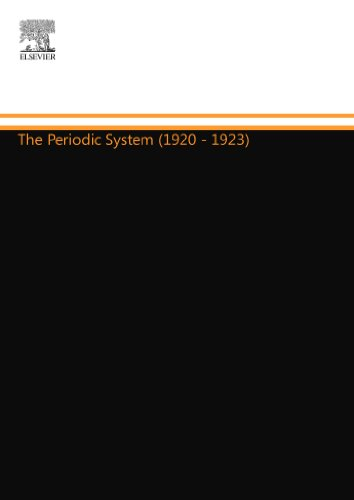 The Periodic System (1920 - 1923)